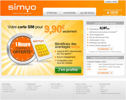 Site internet Simyo